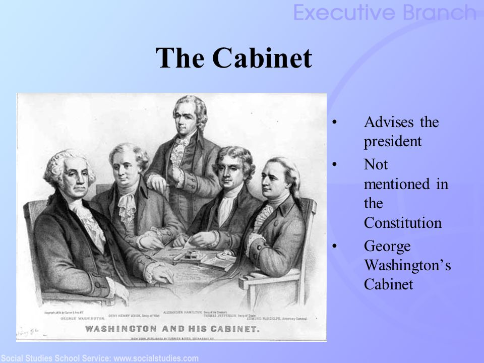 presidential cabinet definition the executive branch ppt 24912