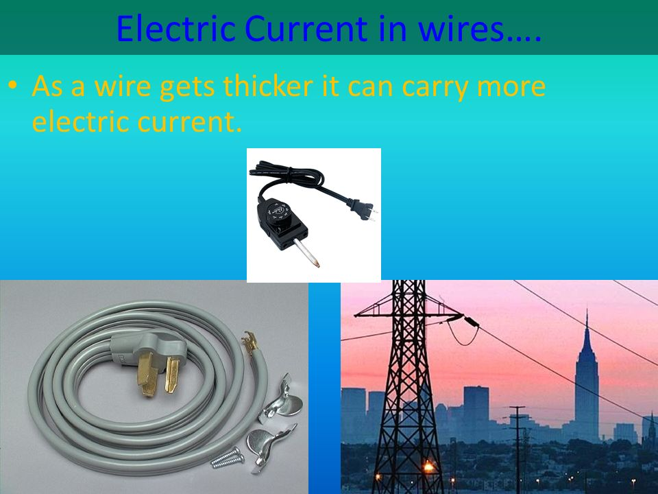Electric Current in wires….