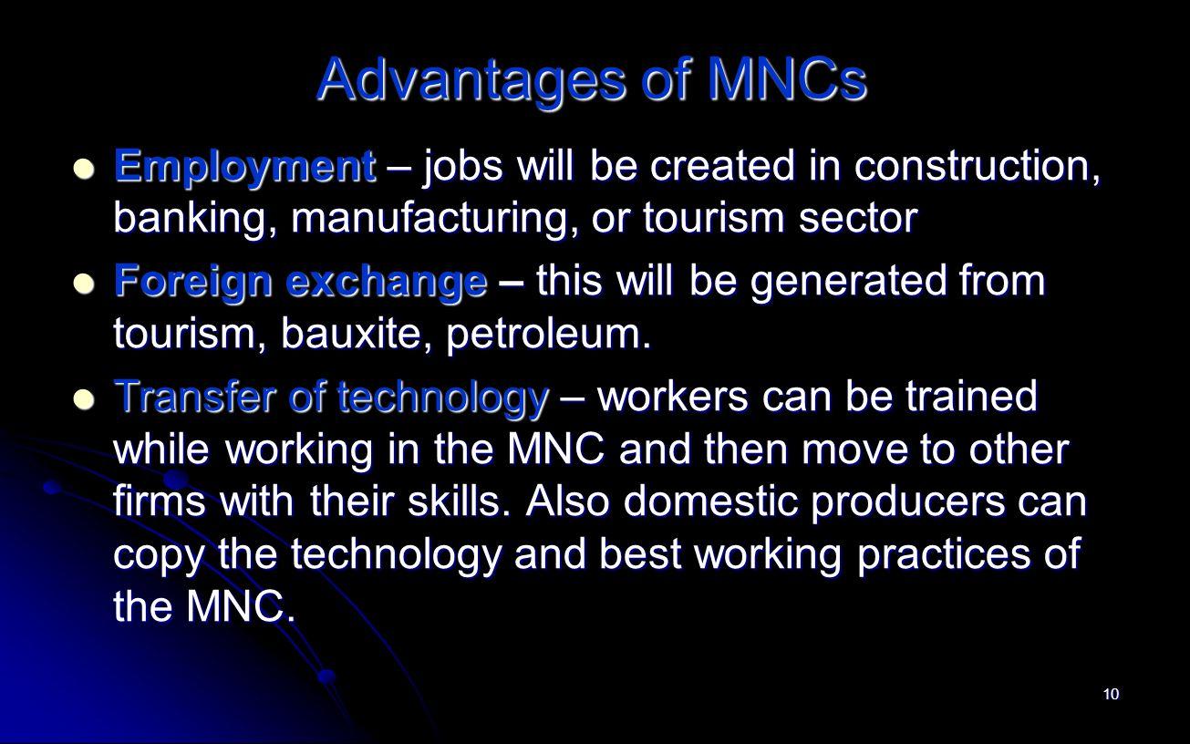 advantages of mnc