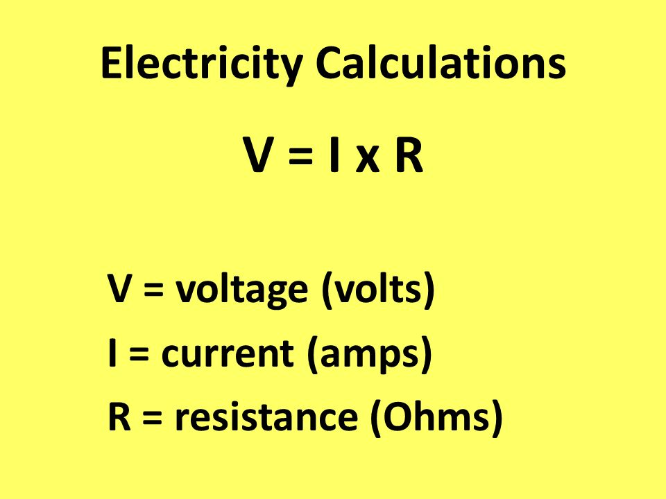 Electricity Calculations