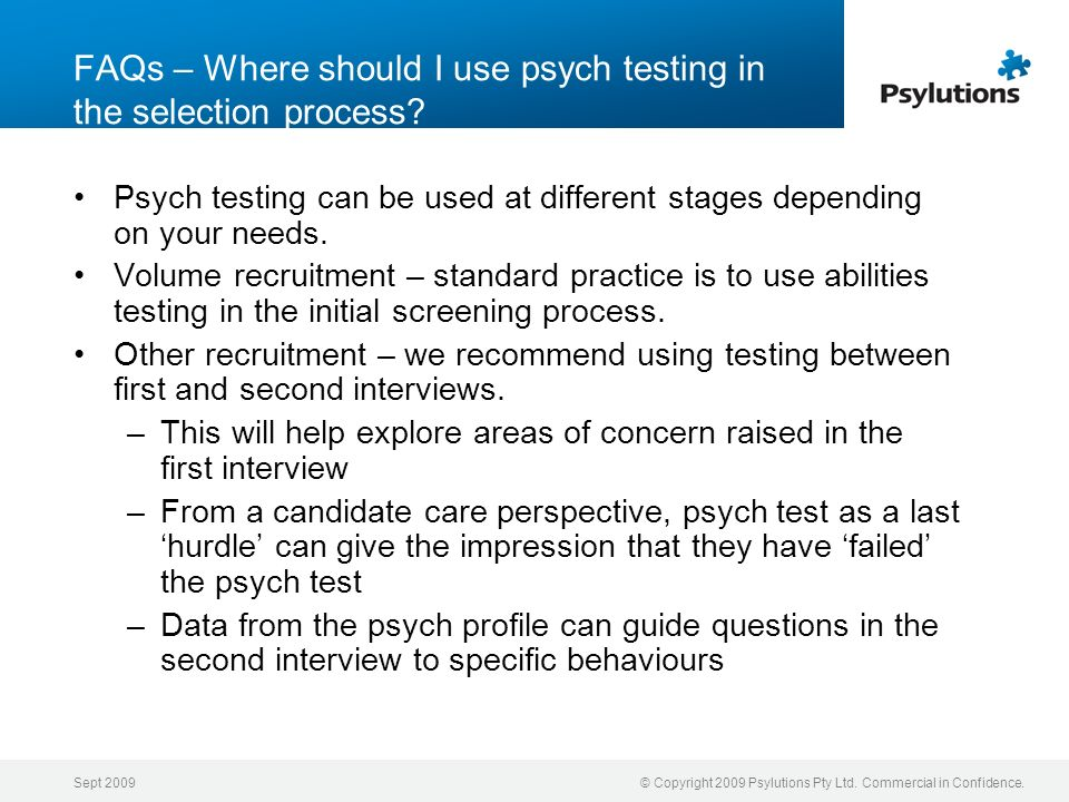 FAQs – Where should I use psych testing in the selection process