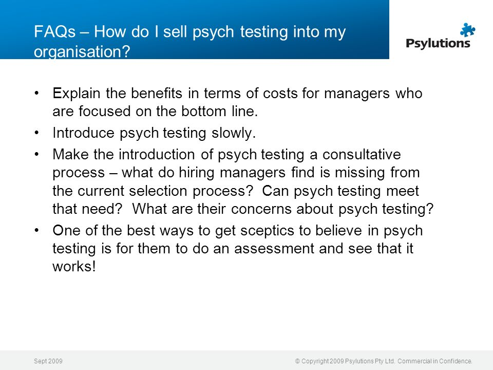 FAQs – How do I sell psych testing into my organisation
