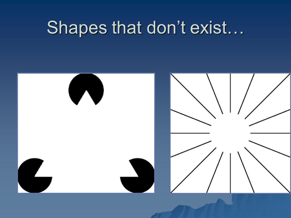 Shapes that don't exist…