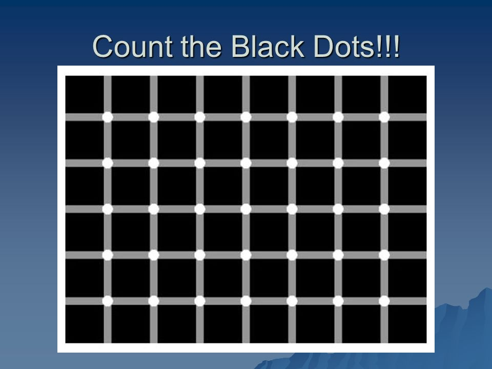 Count the Black Dots!!!