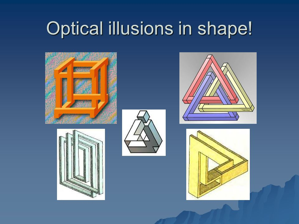 Optical illusions in shape!