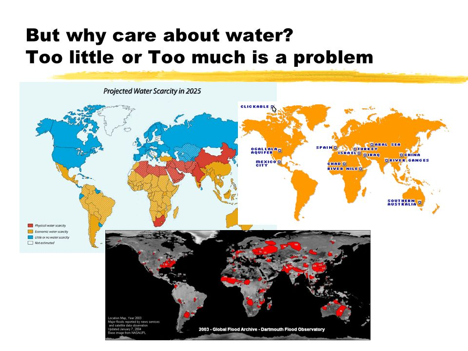 But why care about water Too little or Too much is a problem