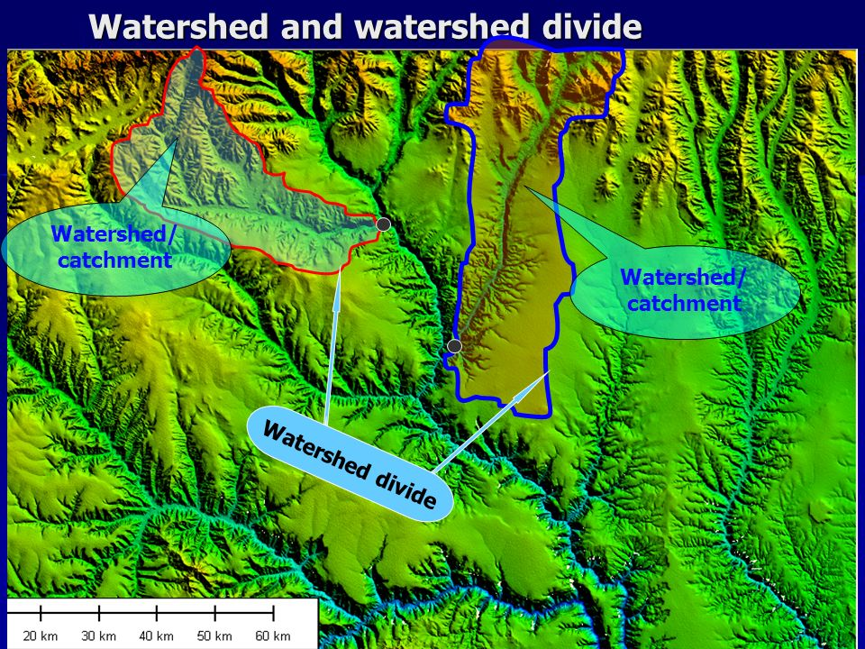 Watershed and watershed divide