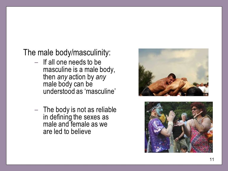 The male body/masculinity: