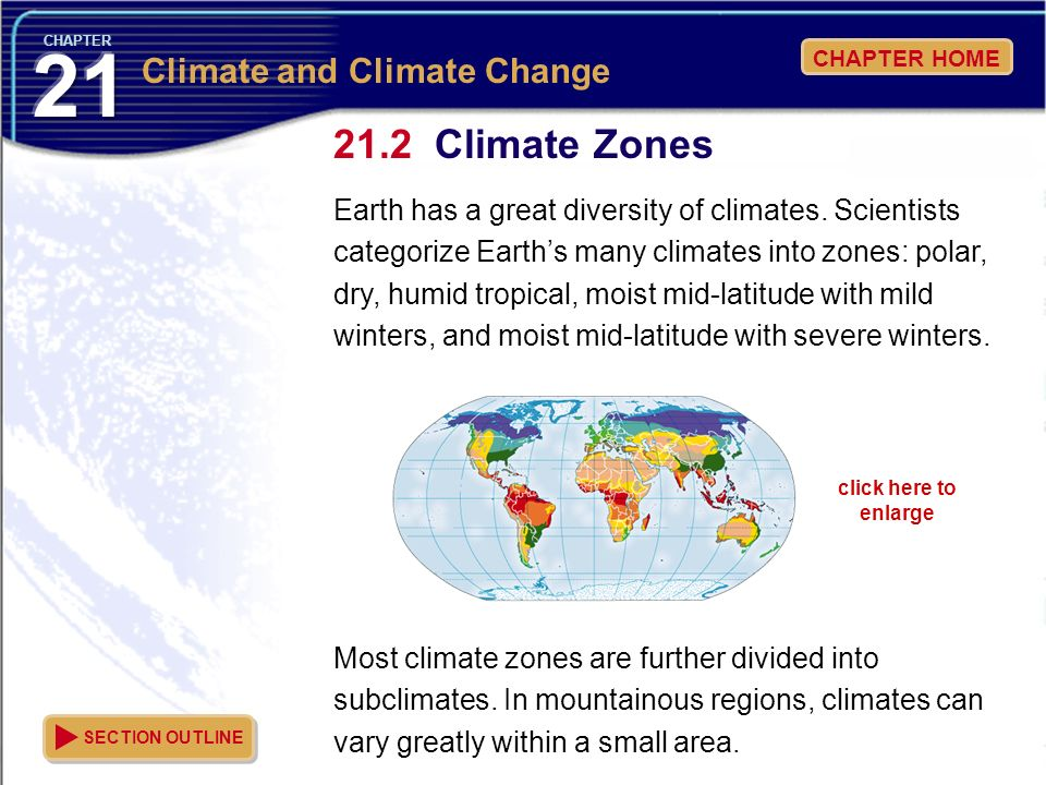 Climate Zones Climate and Climate Change
