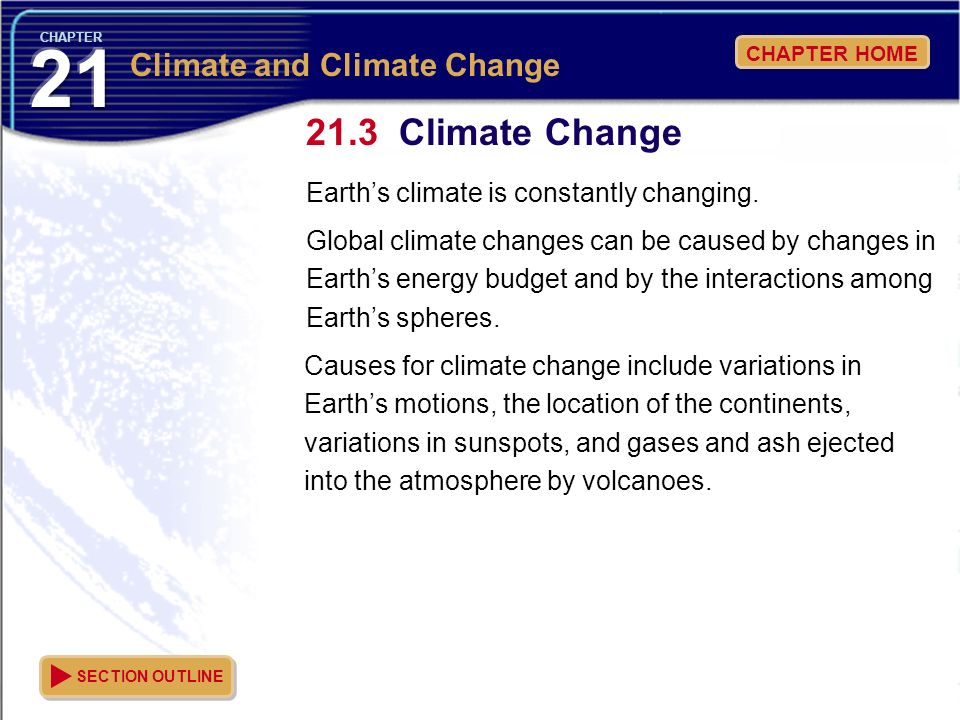 Climate Change Climate and Climate Change