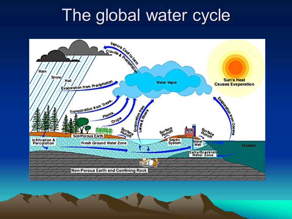 Surface water balance ppt video online download 3 the global water cycle ccuart Images