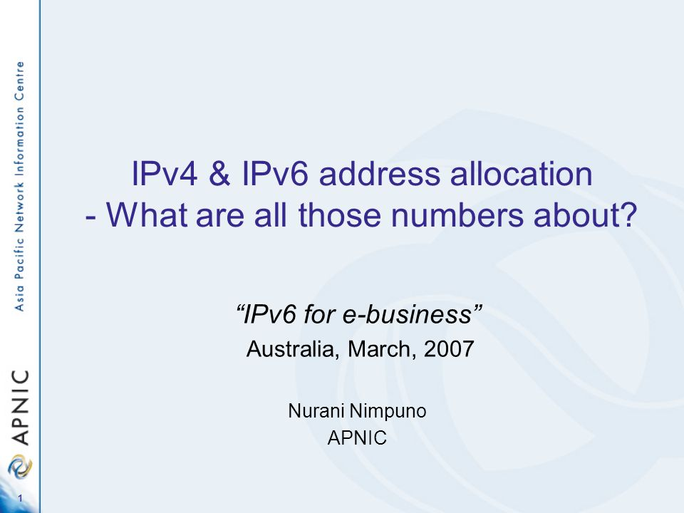 IPv4 & IPv6 address allocation - What are all those numbers about