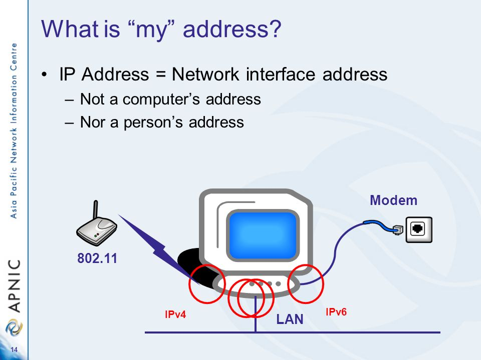 What is my address IP Address = Network interface address