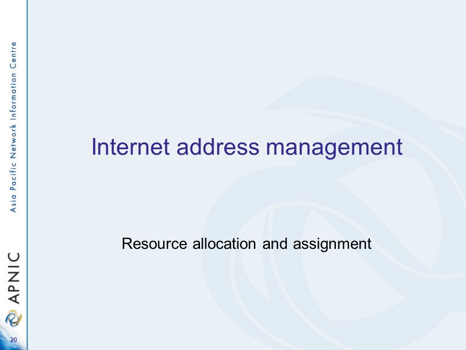 Internet address management