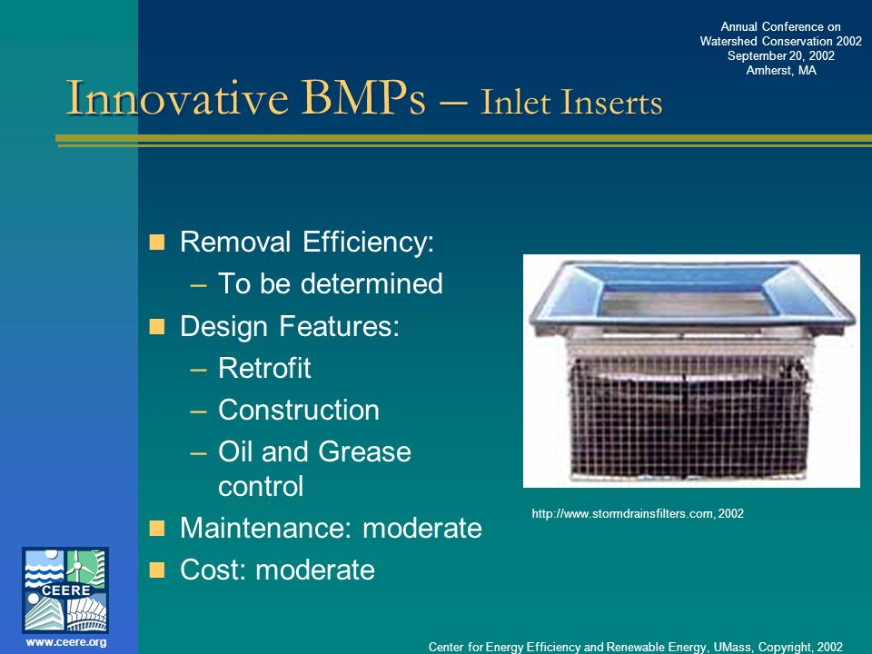 Innovative BMPs – Inlet Inserts
