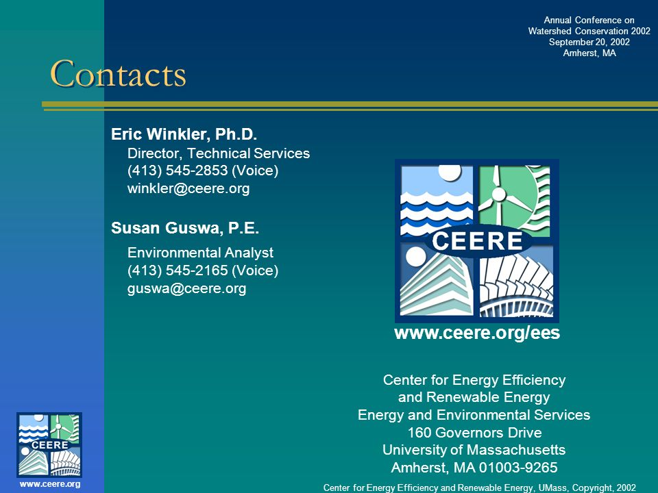 Contacts www.ceere.org/ees