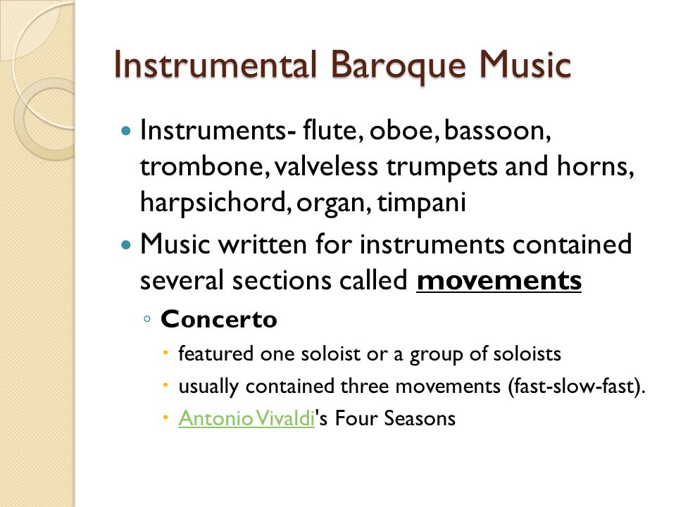 Instrumental Baroque Music