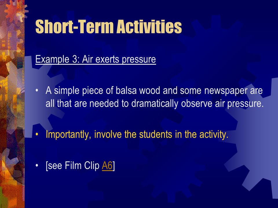 Short-Term Activities