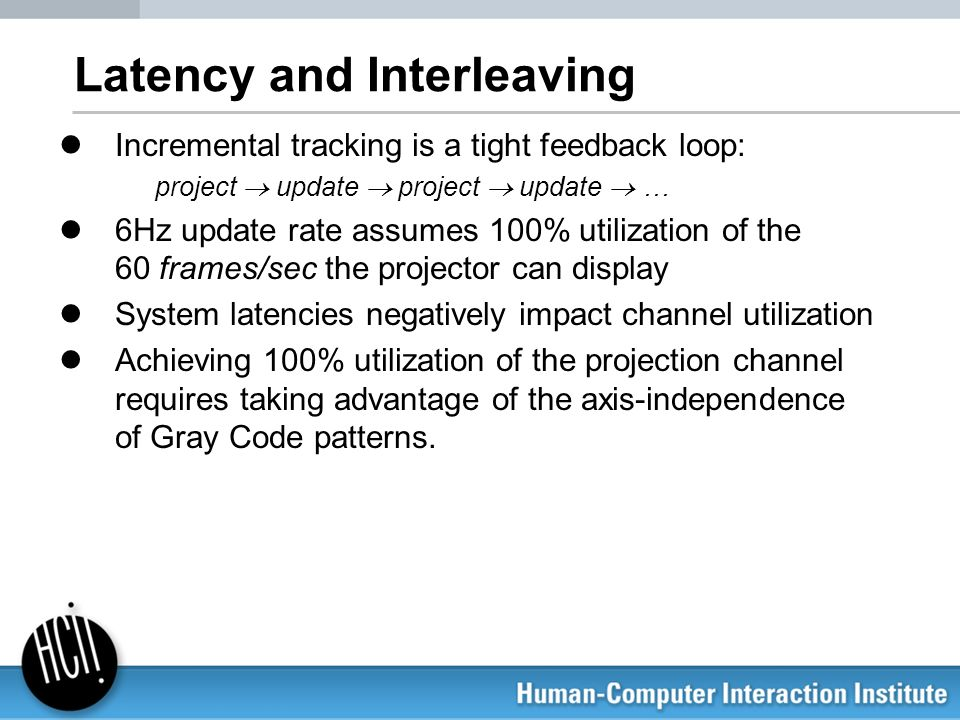 Latency and Interleaving