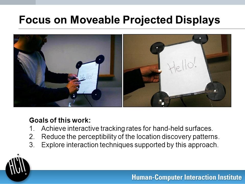 Focus on Moveable Projected Displays