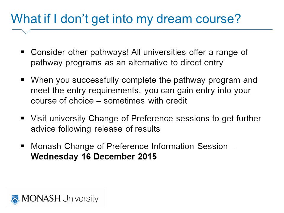 how to get into monash medicine
