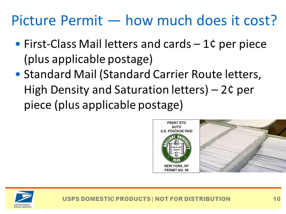 how much does it cost to mail a letter picture permit imprint indicia ppt 11401