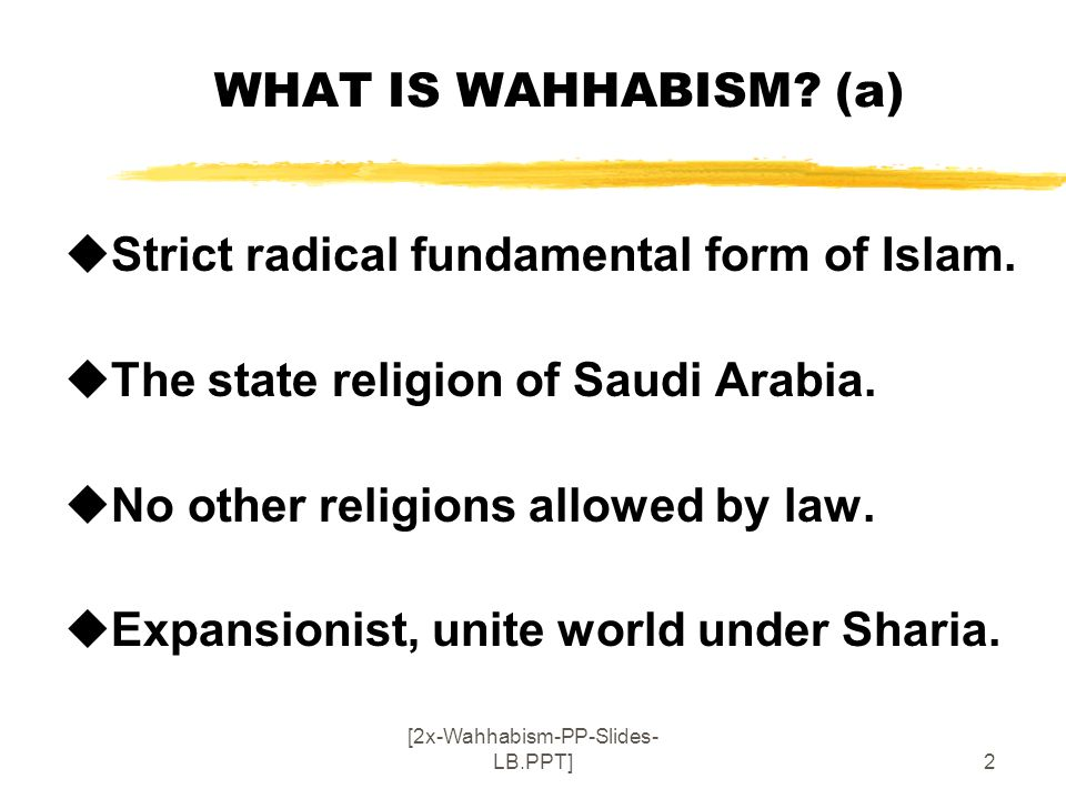 2x wahhabism pp slides lb ppt ppt download