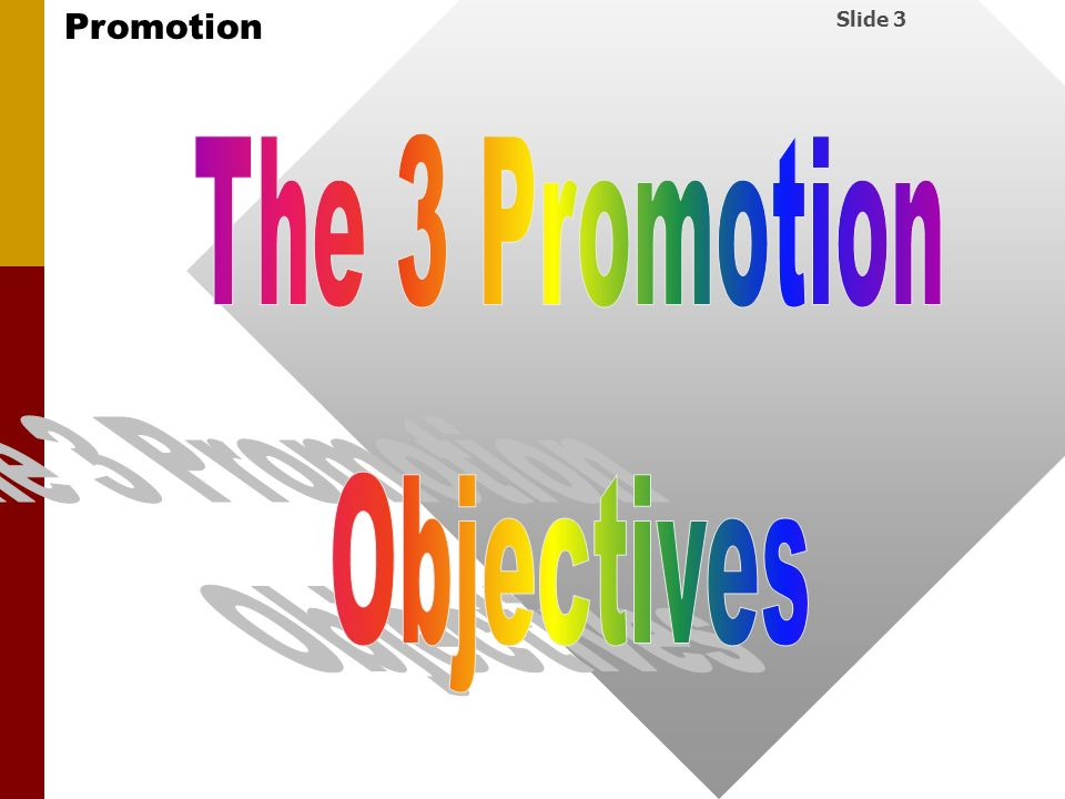 The 3 Promotion Objectives