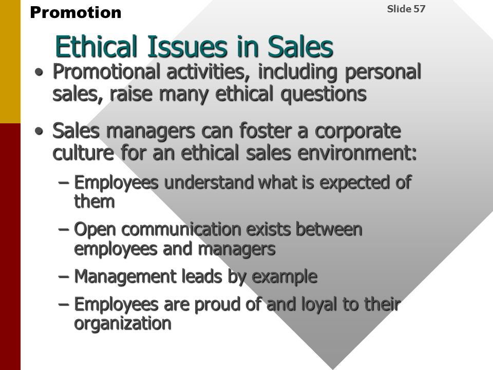Ethical Issues in Sales