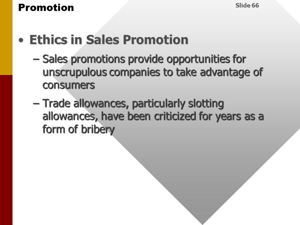 Ethics in Sales Promotion