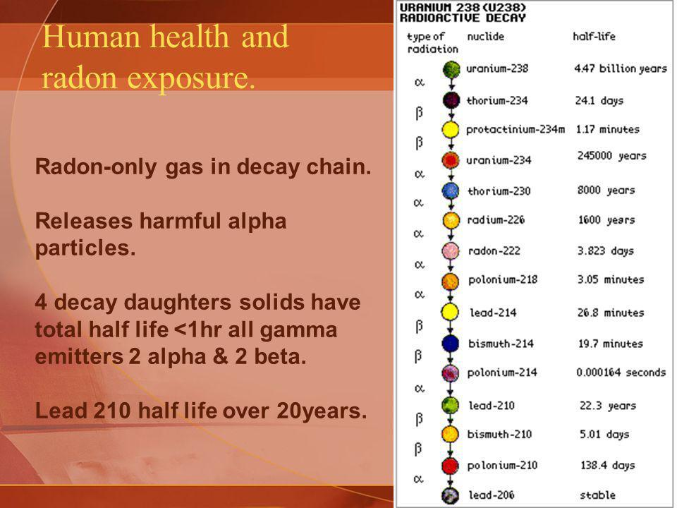 Human health and radon exposure.