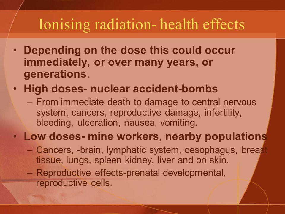 Ionising radiation- health effects