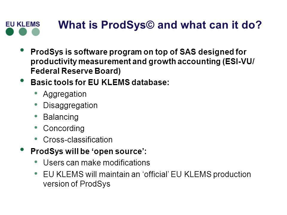 What is ProdSys© and what can it do