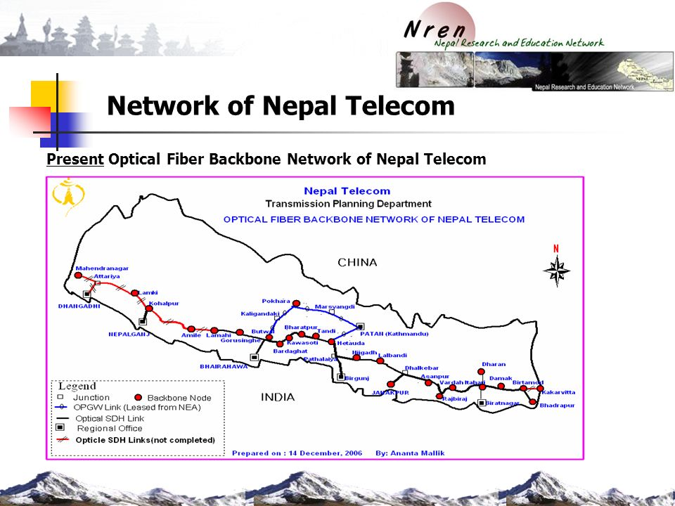 Current ICT Infrastructure of Nepal and NREN services - ppt