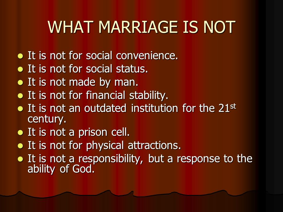 marriage is an outdated institution do you agree