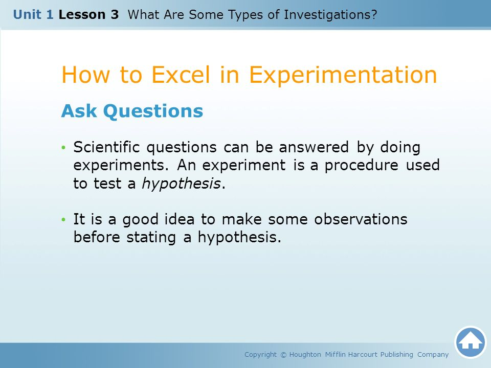 How to Excel in Experimentation