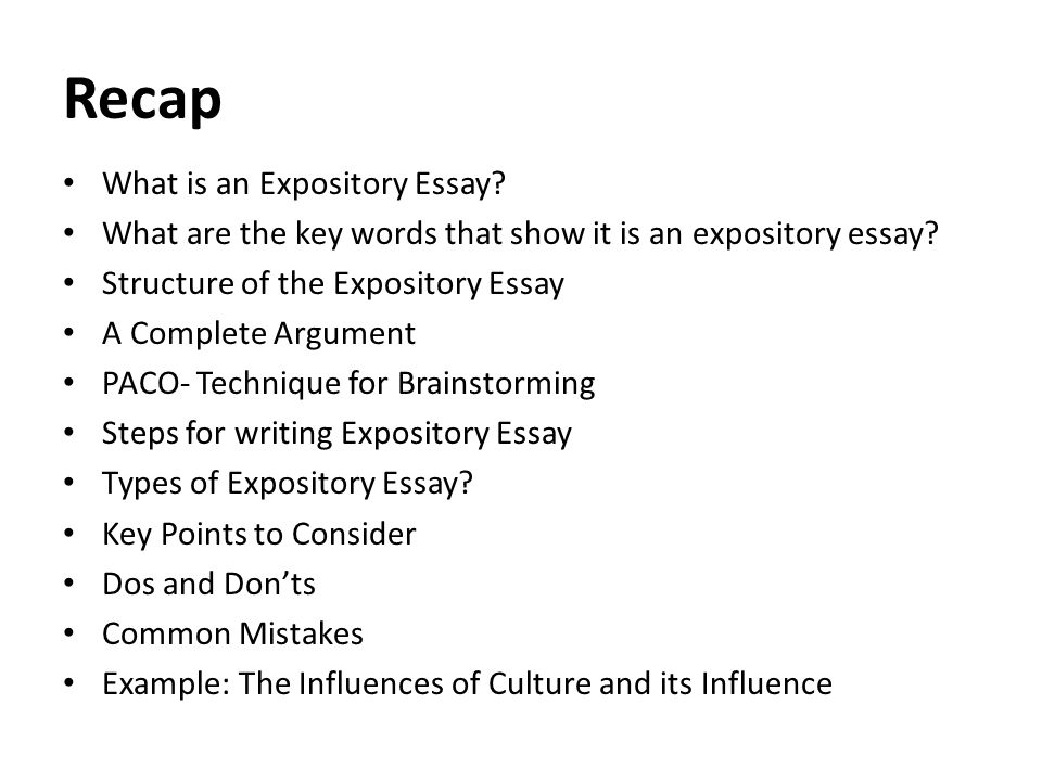 Lecture  Literature Essay  Ppt Video Online Download Recap What Is An Expository Essay
