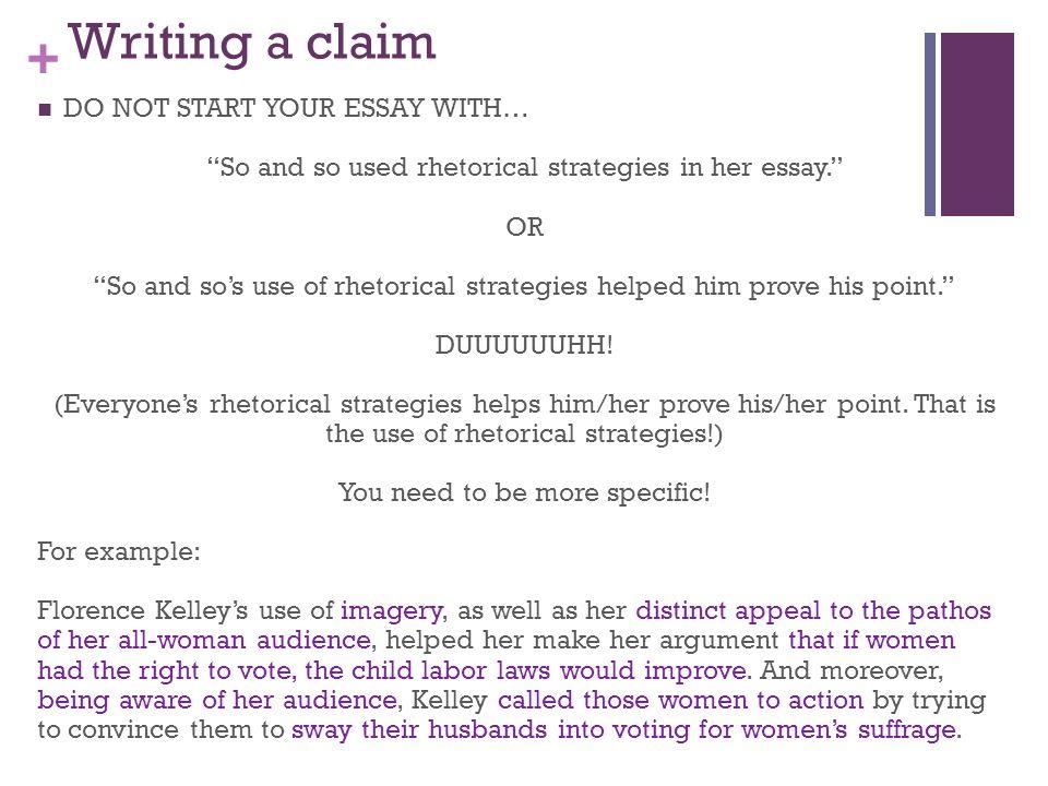 florence kelley rhetorical analysis