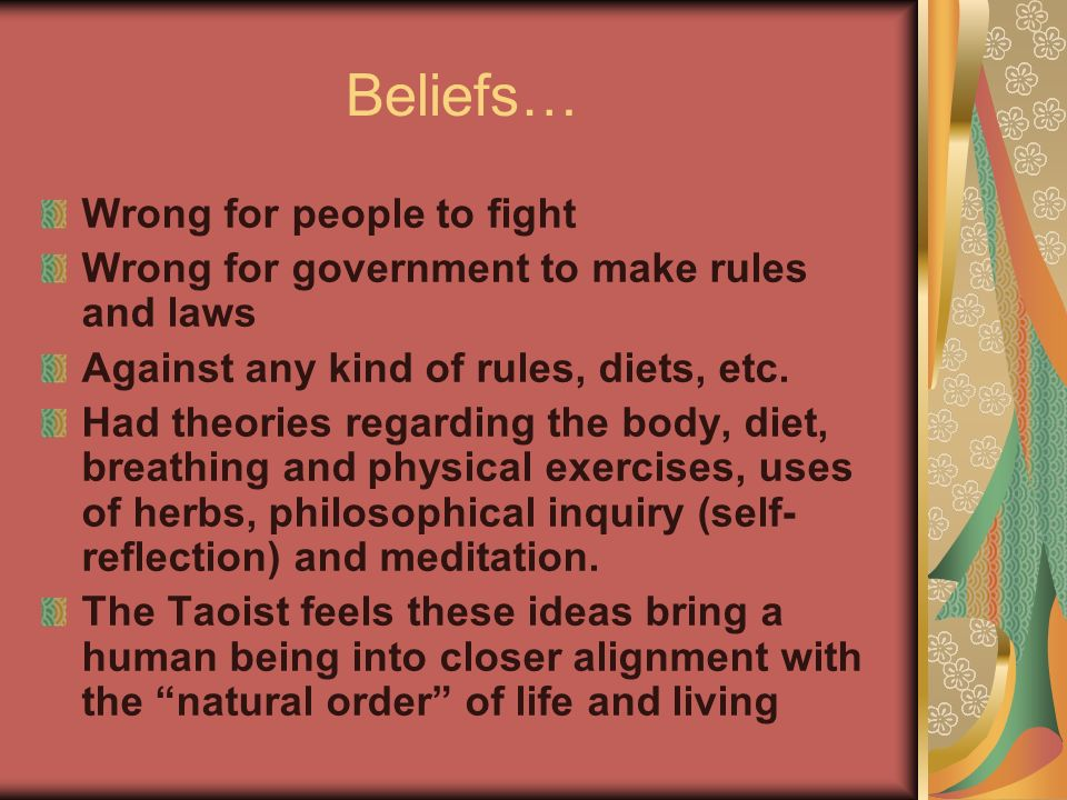 Beliefs… Wrong for people to fight