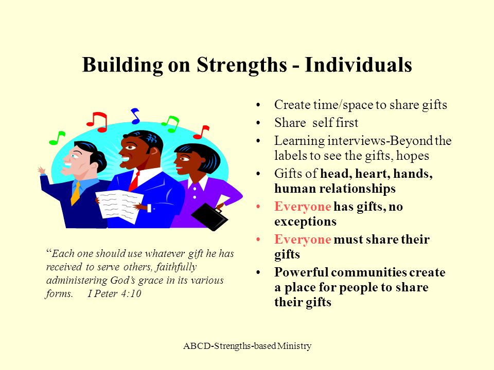 Building on Strengths - Individuals