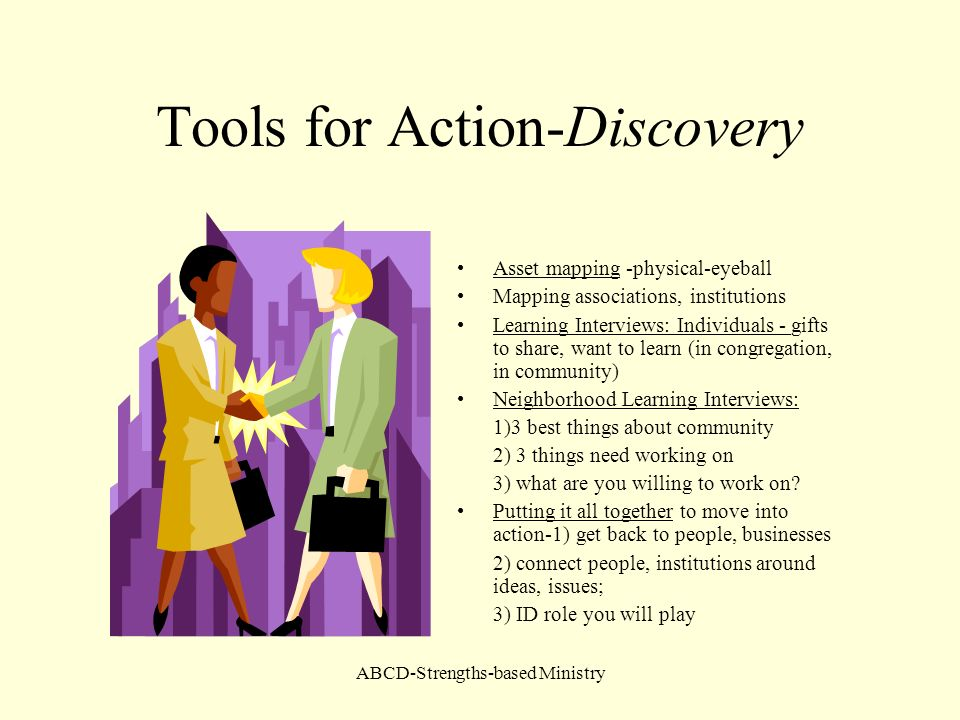 Tools for Action-Discovery