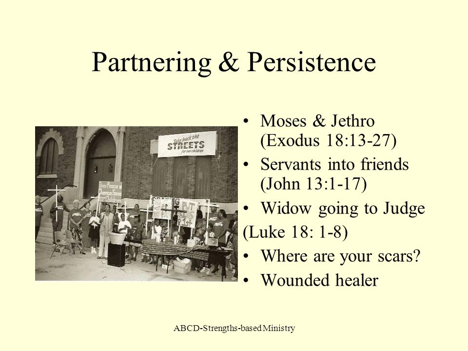 Partnering & Persistence