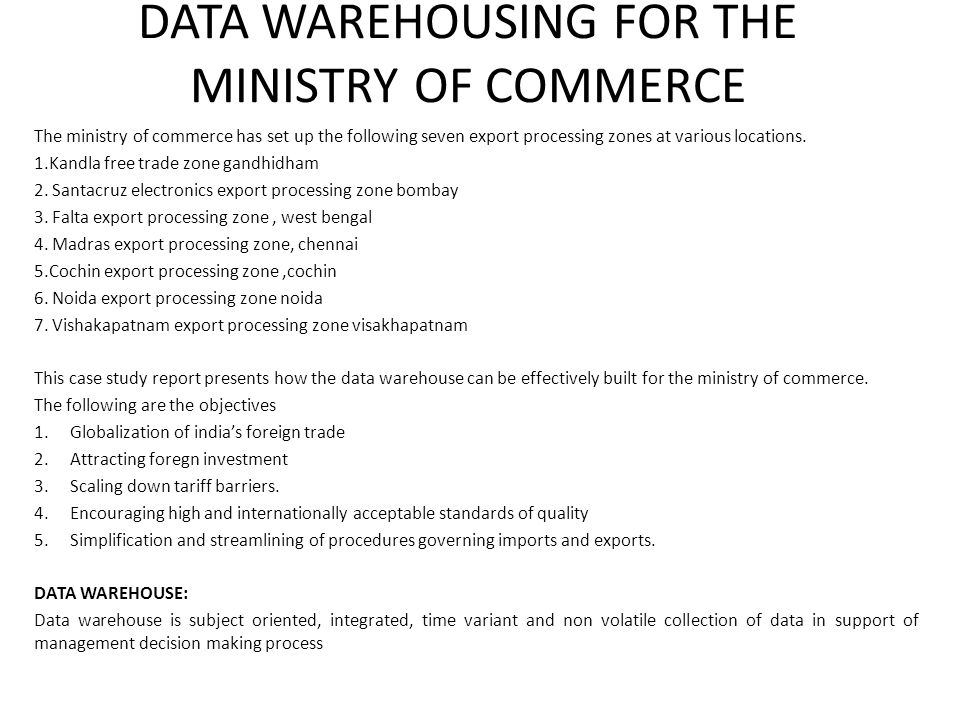 DATA WAREHOUSING FOR THE TAMILNADU GOVERNMENT - ppt video online