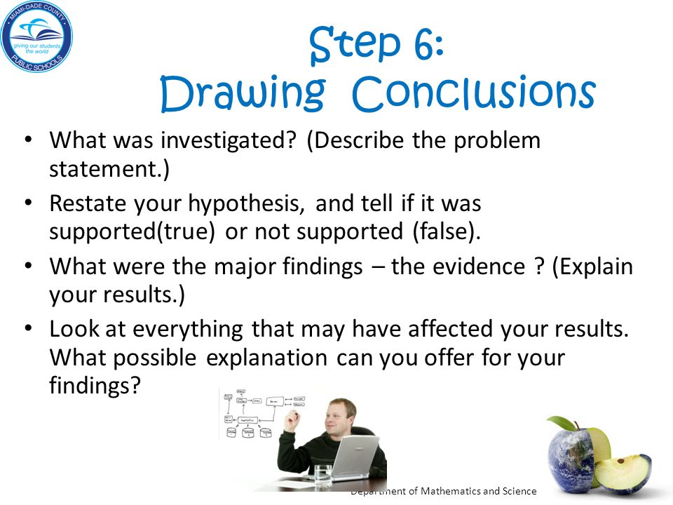 Step 6: Drawing Conclusions