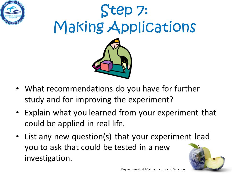 Step 7: Making Applications