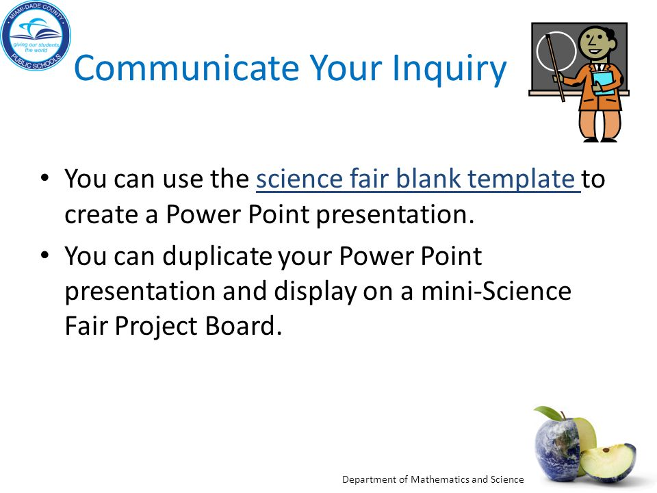 Communicate Your Inquiry