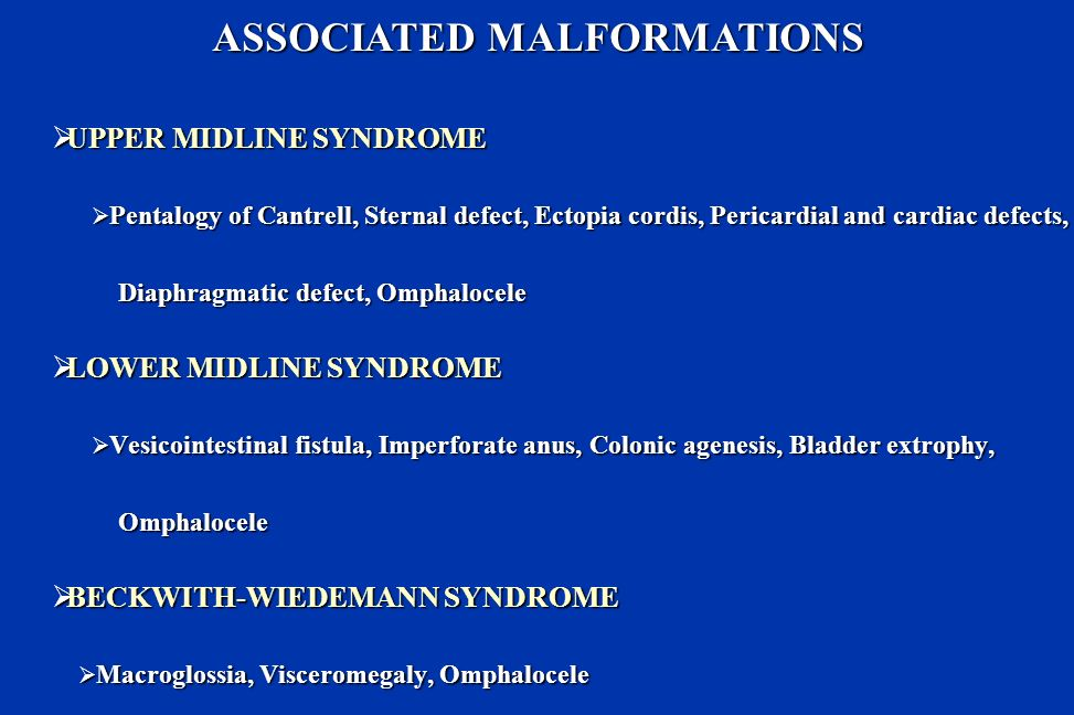 ASSOCIATED MALFORMATIONS