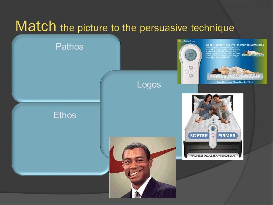 Match the picture to the persuasive technique