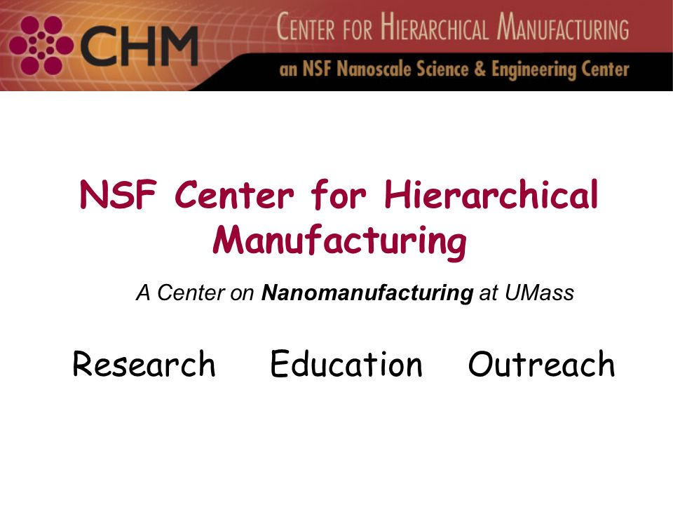 NSF Center for Hierarchical Manufacturing