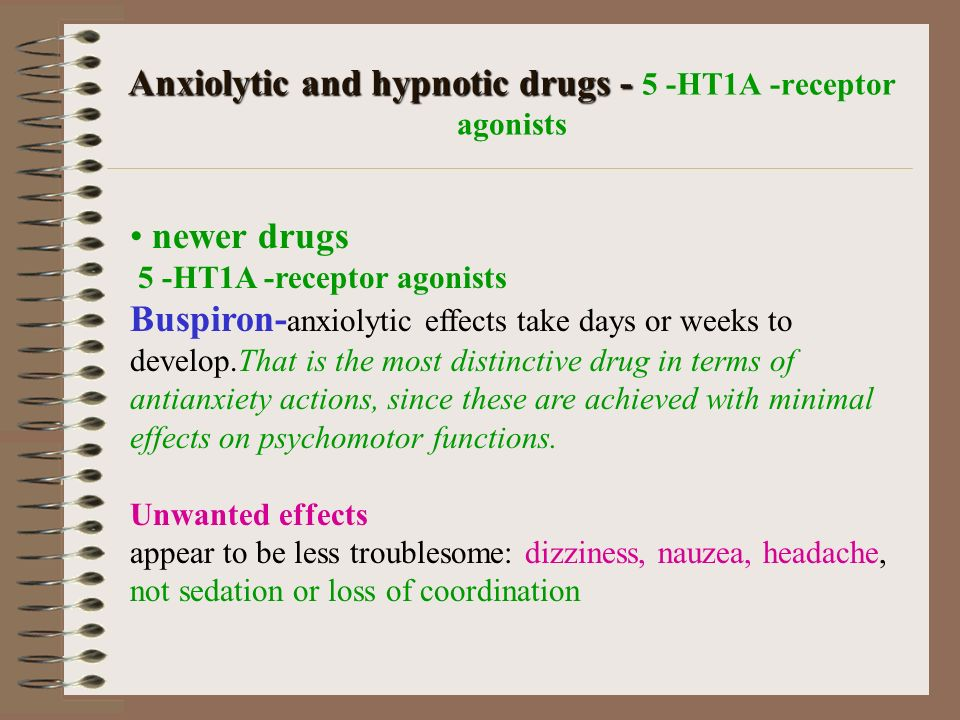 Sedating anxiolytic medications
